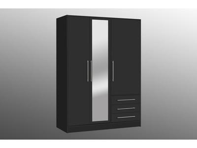 Armoire 3 portes 3 tiroirs Julitta