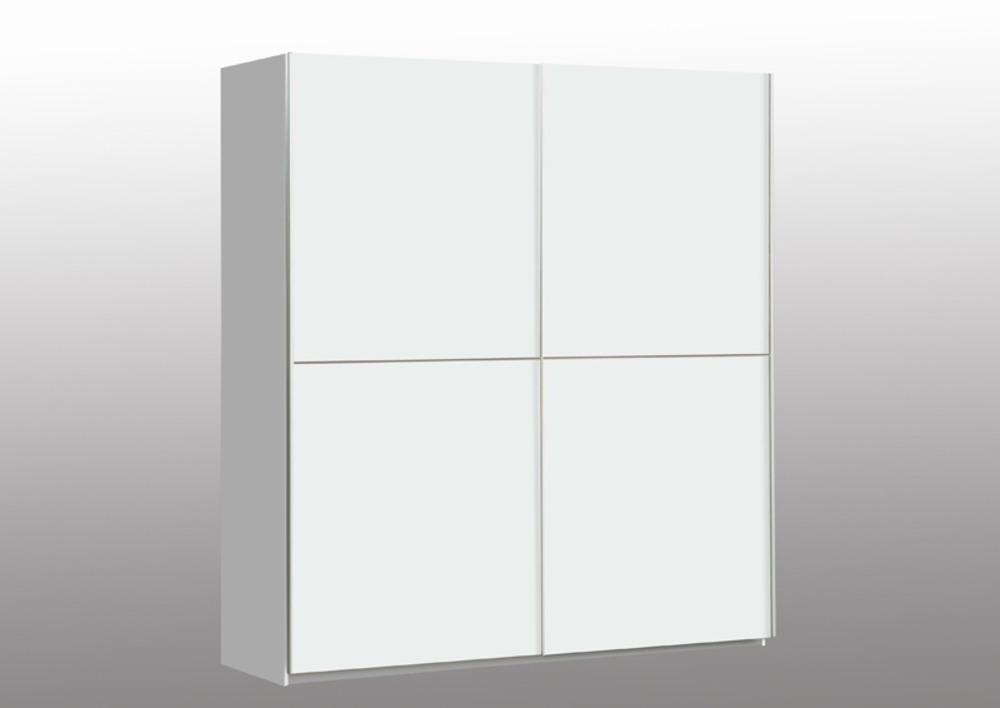 Armoire 2 portes winner 2 blanc for Miroir winners