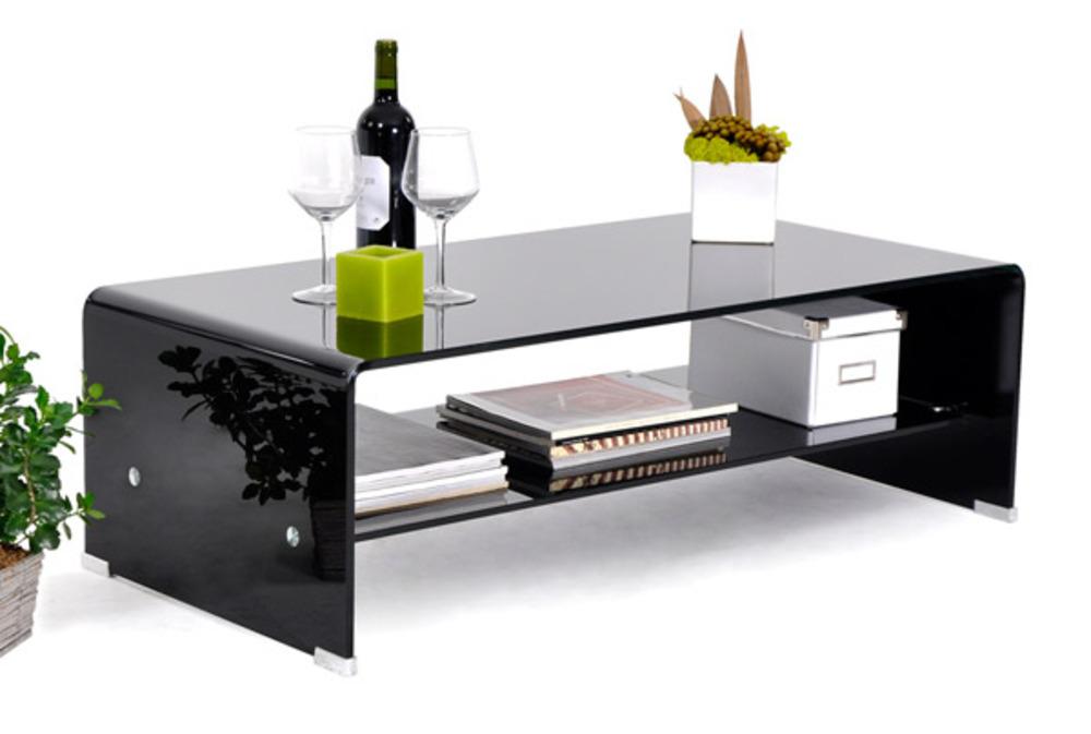 Merveilleux Excellent Table Basse En Verre Noir With Tables De Salon En Verre