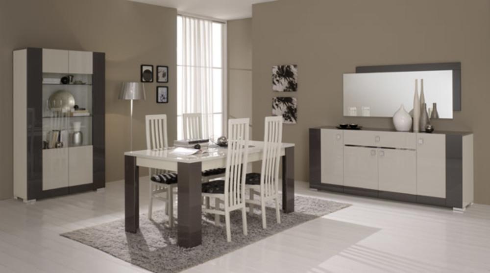 bahut 4 portes 1 tiroir avec led matrix gris perle gris anthracite. Black Bedroom Furniture Sets. Home Design Ideas