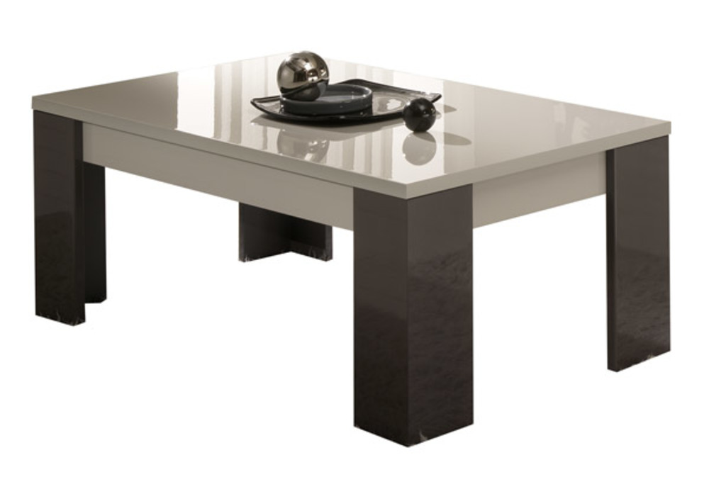 Table basse matrix gris perle gris anthracite for Table basse gris anthracite