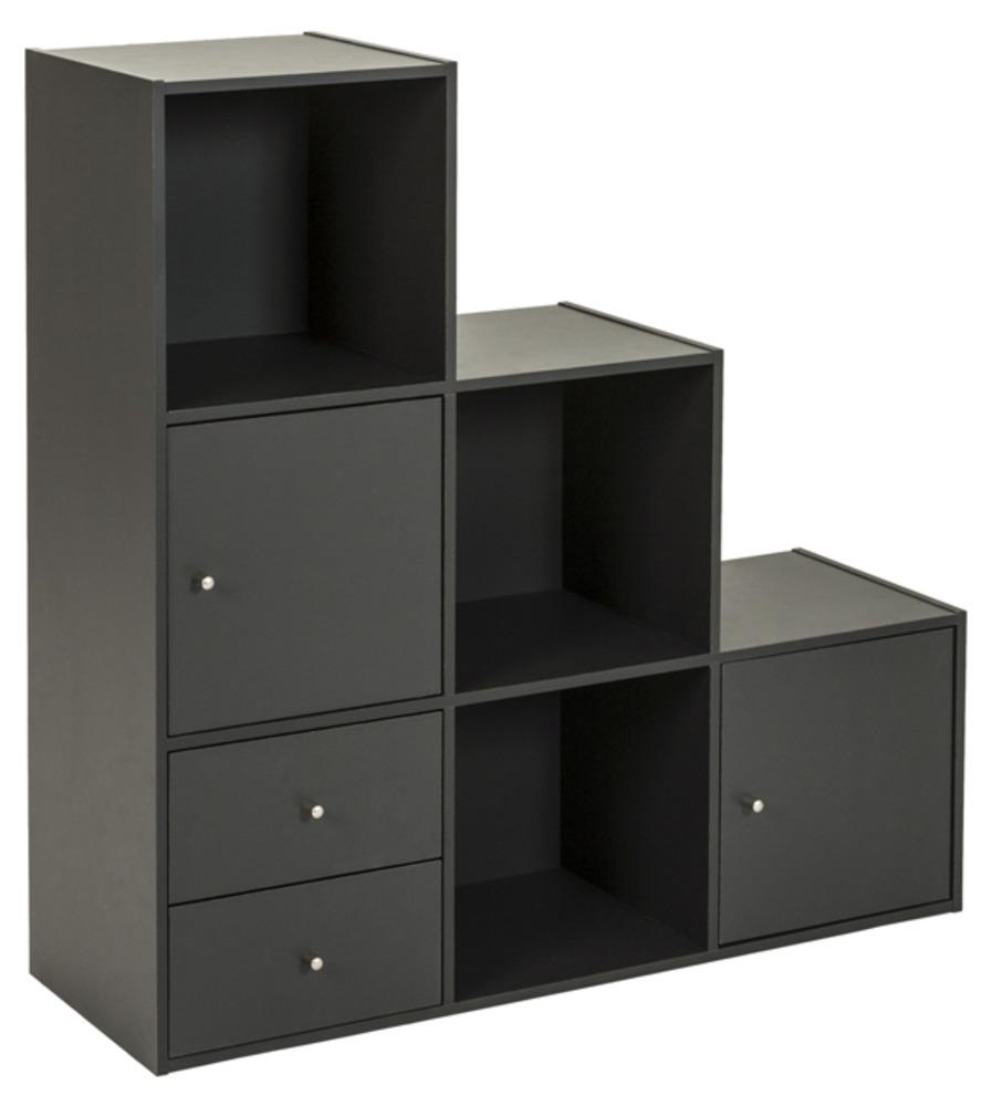Boxy Chambres Rangements Divers Cube 6 Cases 2 Portes Et