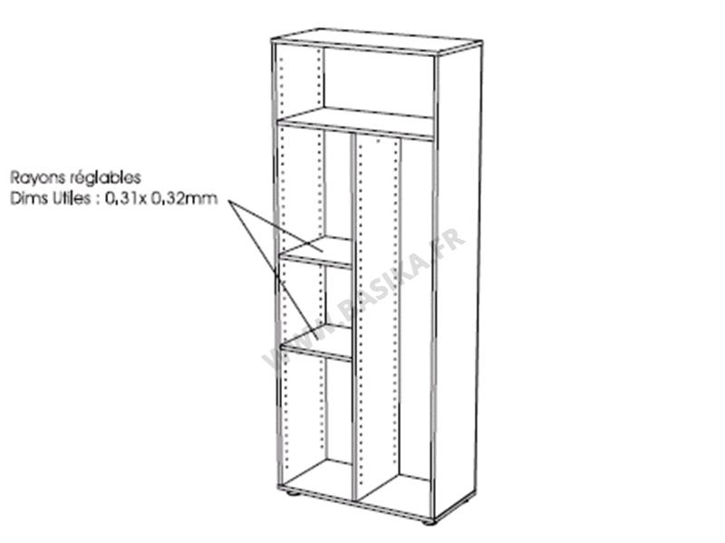 armoire balai cobi blanc. Black Bedroom Furniture Sets. Home Design Ideas