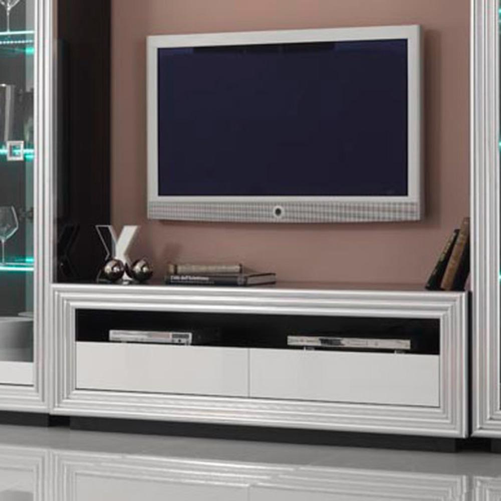 Meuble tv silver laque bicolore - Meuble tv violet laque ...