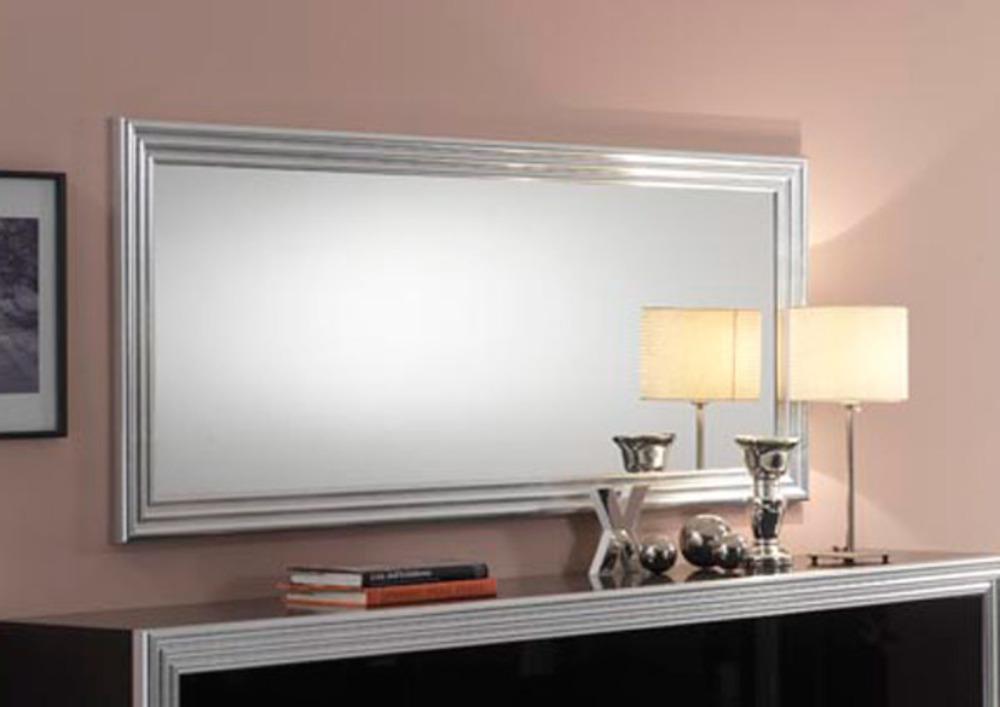 Miroir silver laque noire argent for Miroir salle a manger