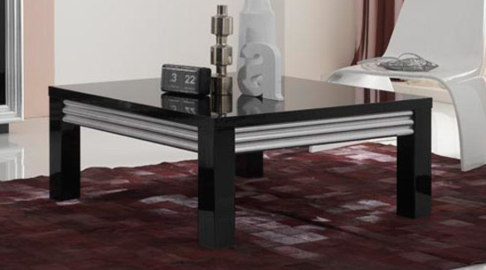 table basse silver laque noire. Black Bedroom Furniture Sets. Home Design Ideas