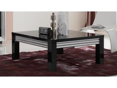 Table basse Silver laque noire