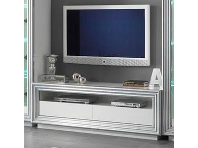 Meuble tv Silver laque blanc
