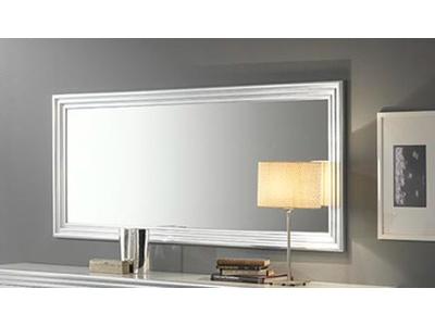 Miroir Silver laque blanc