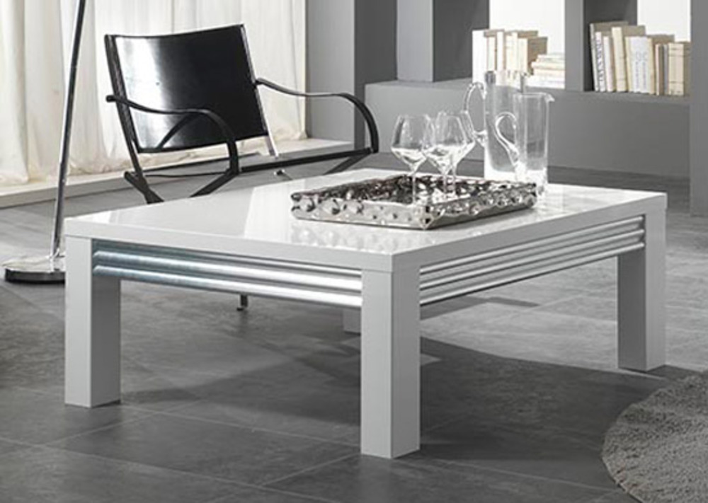 table basse silver laque blanc. Black Bedroom Furniture Sets. Home Design Ideas