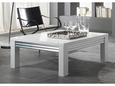 Table basse Silver laque blanc