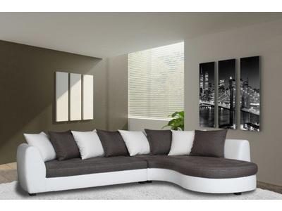 canapé d'angle haricot