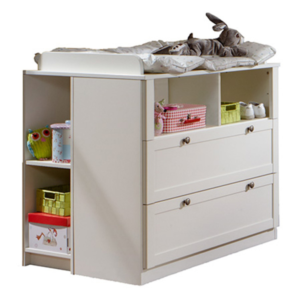 Commode langer 2 tiroirs filou blanc - La redoute table a langer ...