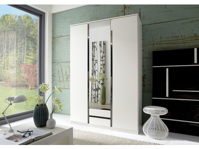 Armoire 3 portes dont 1 miroir + 2 tiroirs Line