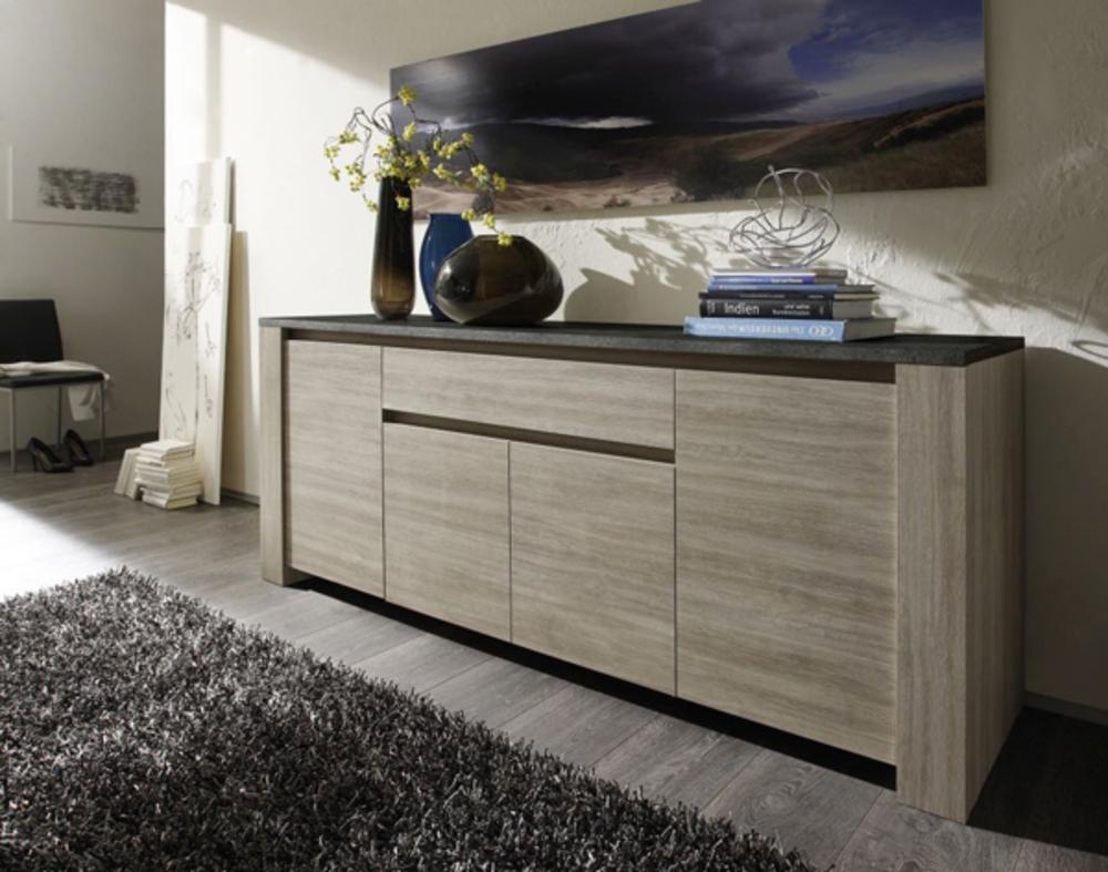 elba s jours bahuts buffets bahut 4 portes et 1 tiroir chene gris ardoise basika le hard. Black Bedroom Furniture Sets. Home Design Ideas