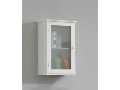 meuble haut 1 porte stockholm blanc - Meuble Cuisine Haut Porte Vitree