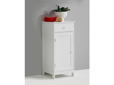 Meuble bas 1 porte et 1 tiroir stockholm blanc - Element bas salle de bain ...