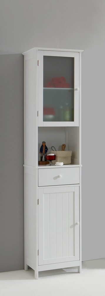 freestanding tall bathroom cabinet colonne stockholm blanc 18433