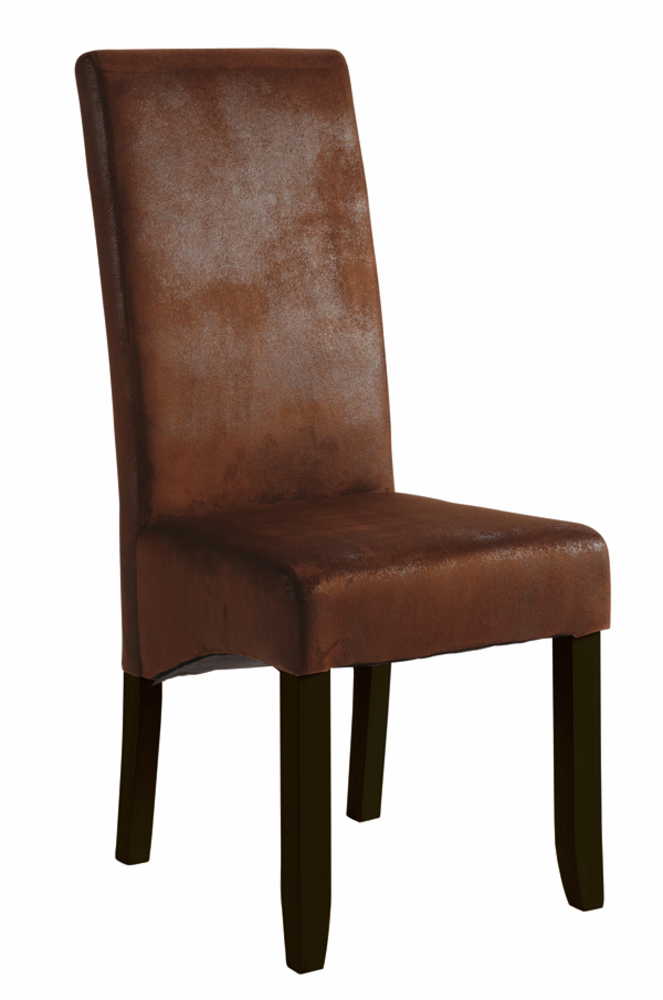 Chaise sejour sagua marron fonce vintage for Chaise coloree salle a manger