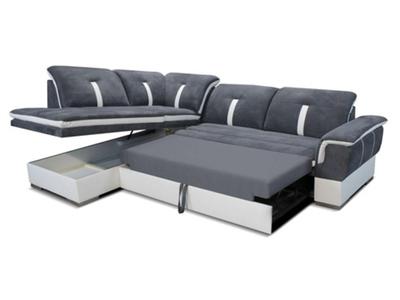 Canape d'angle à gauche convertible Galaxia