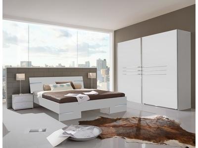 Chevet 2 tiroirs Anna chambre à coucher blanc