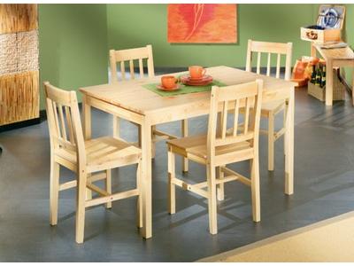 Ensemble table + 4 chaises Carola