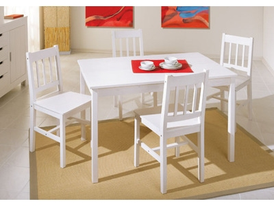 Ensemble table + 4 chaises Paloma