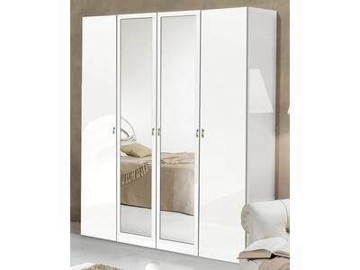 Armoire 4 portes Athena chambre a coucher blanc