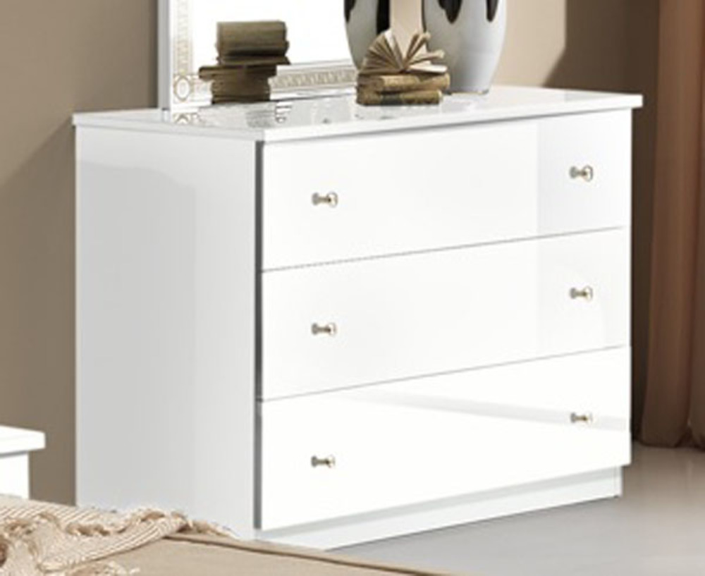 commode 3 tiroirs athena chambre a coucher blanc. Black Bedroom Furniture Sets. Home Design Ideas