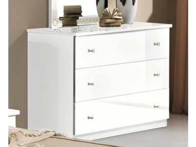 Commode 3 tiroirs Athena chambre a coucher blanc