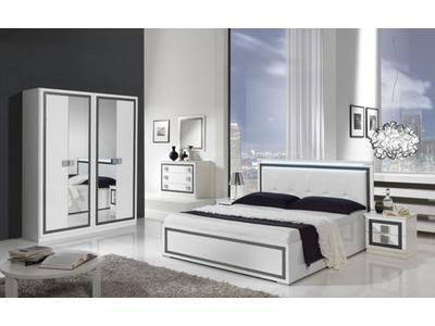 Armoire 4 portes Thema blanc