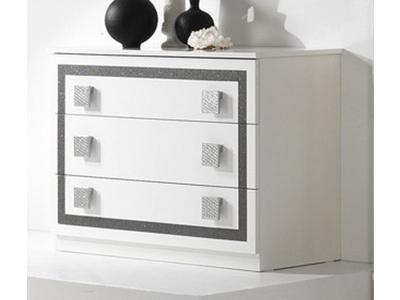 Commode 3 tiroirs Thema blanc