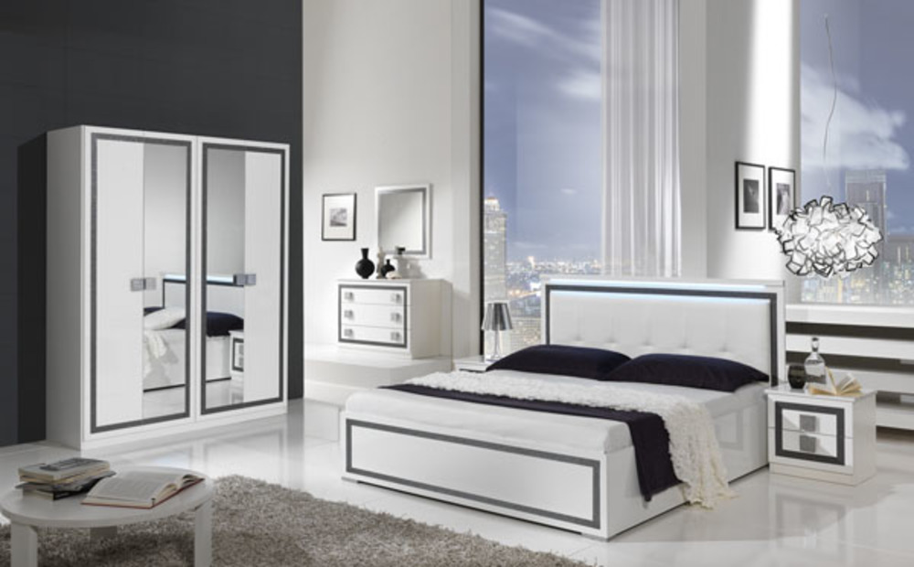 chevet 2 tiroirs thema blanc. Black Bedroom Furniture Sets. Home Design Ideas
