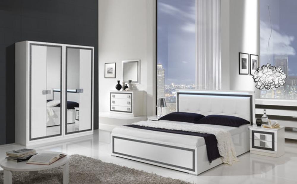 chevet 2 tiroirs thema blanc. Black Bedroom Furniture Sets. Home Design Ideas