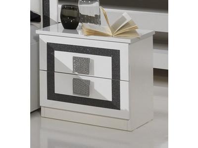 Chevet 2 tiroirs Thema blanc