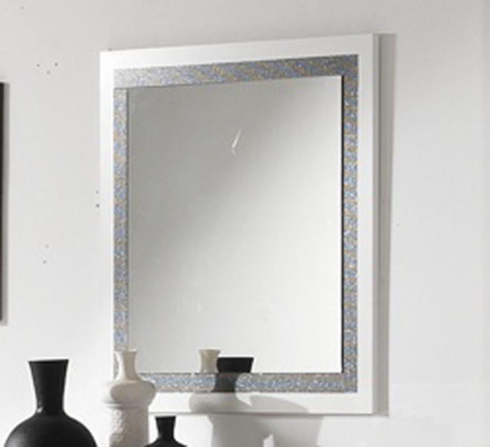 Miroir thema blanc for Miroir quadrilobe blanc