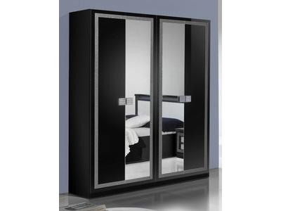 Armoire 4 portes Thema noir