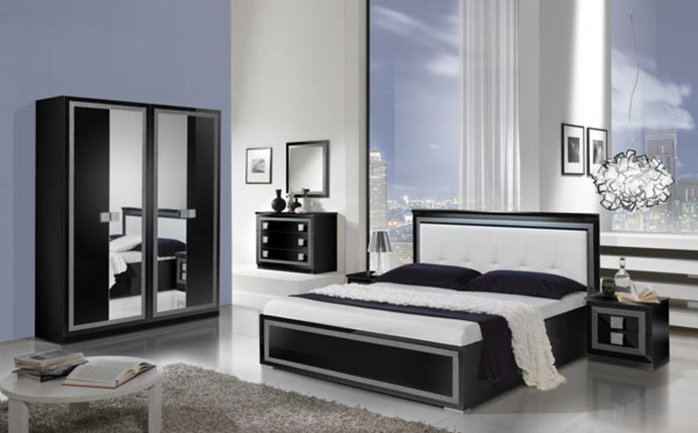 Chevet 2 tiroirs thema noir for Meuble chambre noir