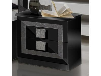 Chevet 2 tiroirs Thema noir