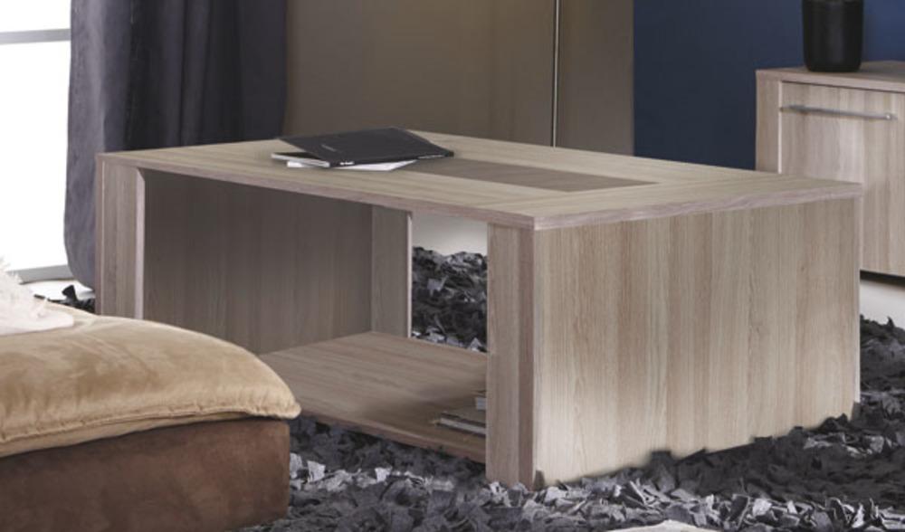 Table basse duchess chene beton clair for Table basse chene clair