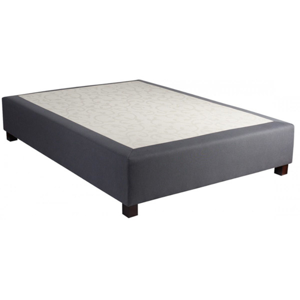 sommier boxspring thiriez look gris l 140 x h 28 x p 190. Black Bedroom Furniture Sets. Home Design Ideas