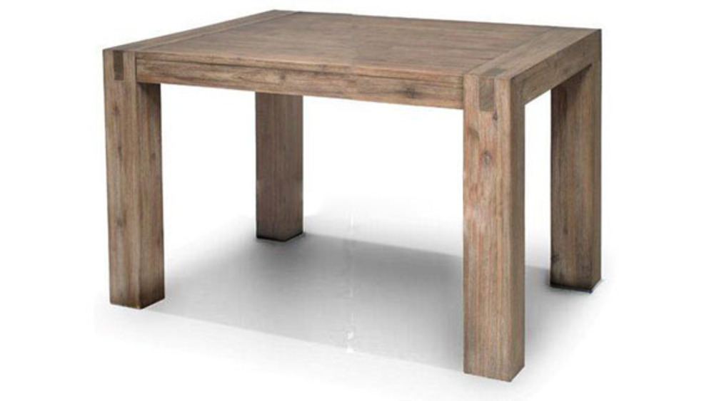 Table repas fixe carree hamburg l 140 x h 78 x p 140 - Table carree avec rallonge design ...