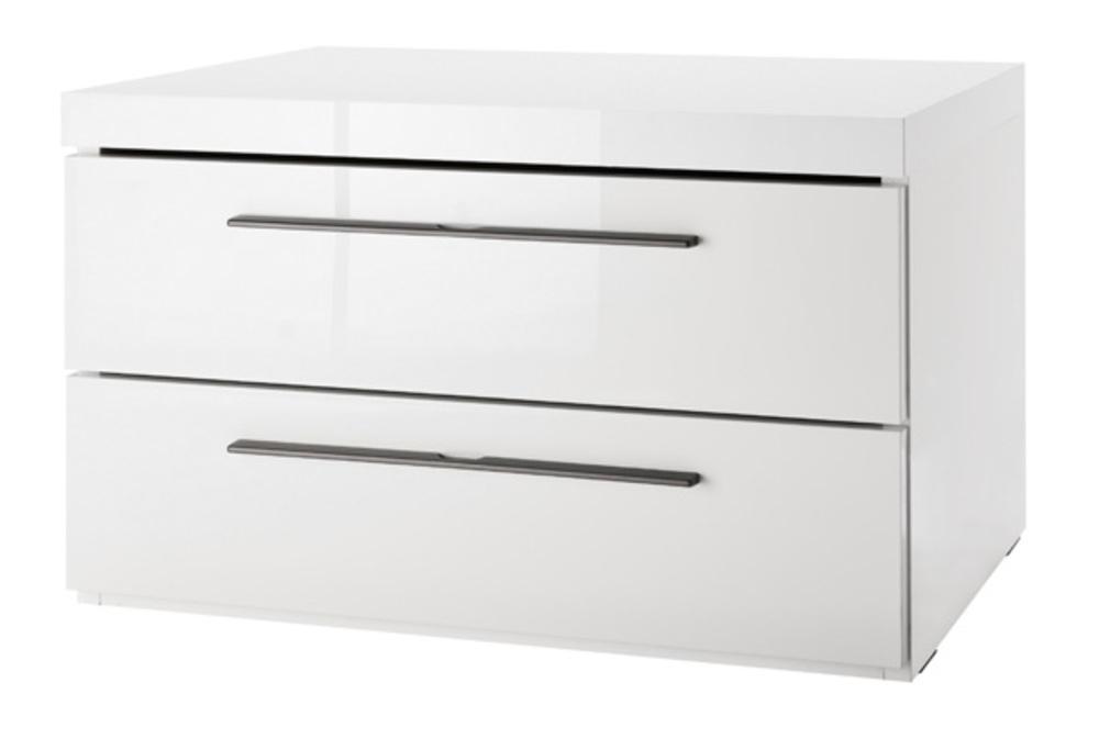 chevet 2 tiroirs attimi blanc brillant. Black Bedroom Furniture Sets. Home Design Ideas