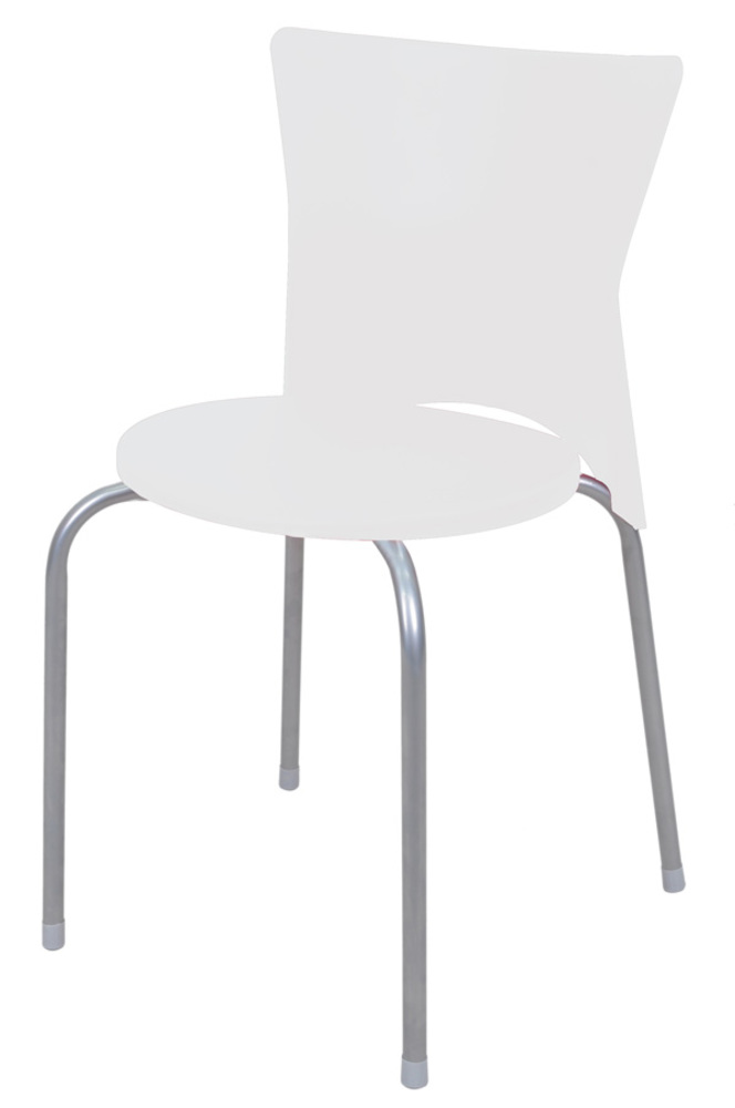 Chaise studio blanc l 45 x h 76 x p 46 for Chaise plastique salle a manger