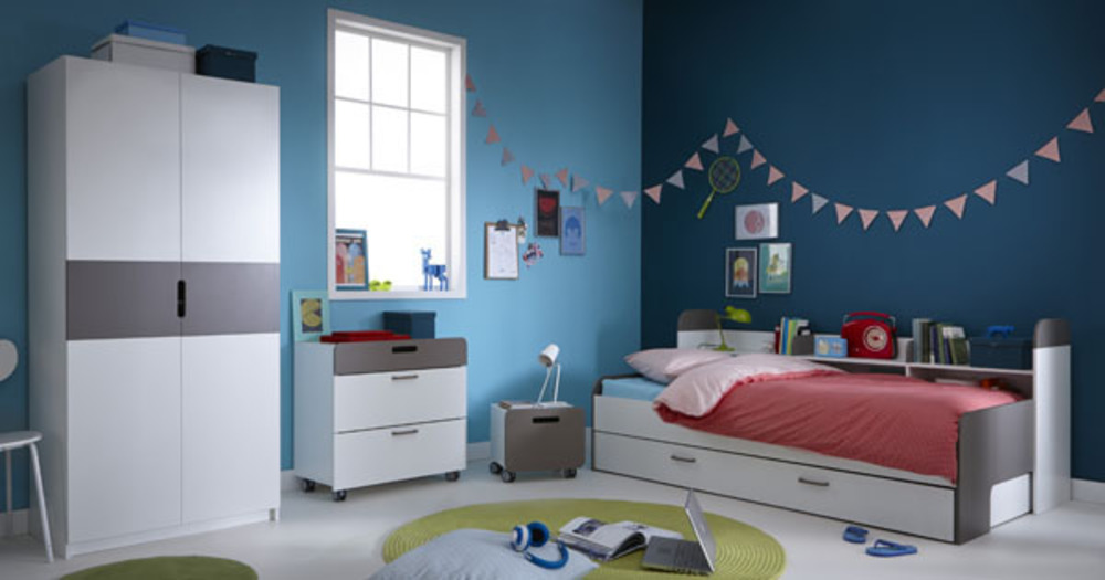 banquette lit sacha blanc perle gris basalte. Black Bedroom Furniture Sets. Home Design Ideas