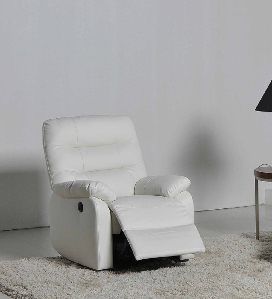 fauteuil relax electrique cameo blanc neige 8815. Black Bedroom Furniture Sets. Home Design Ideas