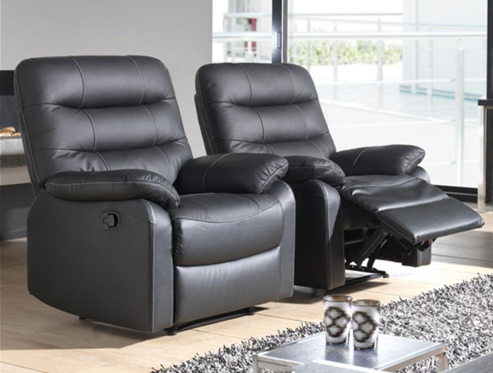 fauteuil relax electrique cameo noir 3500. Black Bedroom Furniture Sets. Home Design Ideas