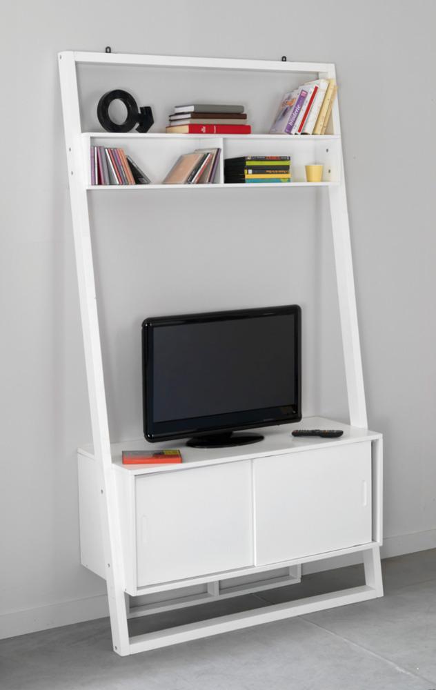 concept s jours vitrines etag res etagere tv blanc. Black Bedroom Furniture Sets. Home Design Ideas