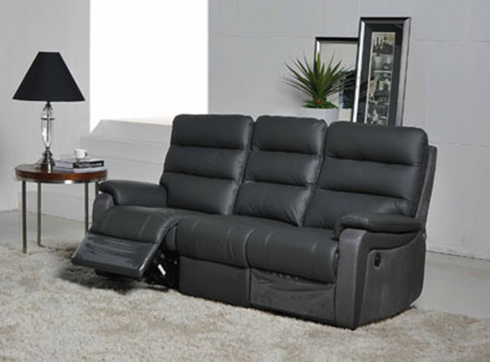 canape 3 places relax electrique ethan rio anthr 9811 luba gris fonce. Black Bedroom Furniture Sets. Home Design Ideas