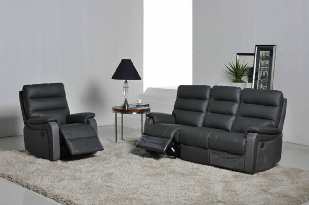 canape 3 places relax electrique ethan. Black Bedroom Furniture Sets. Home Design Ideas